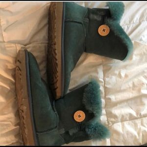 Green UGG boots